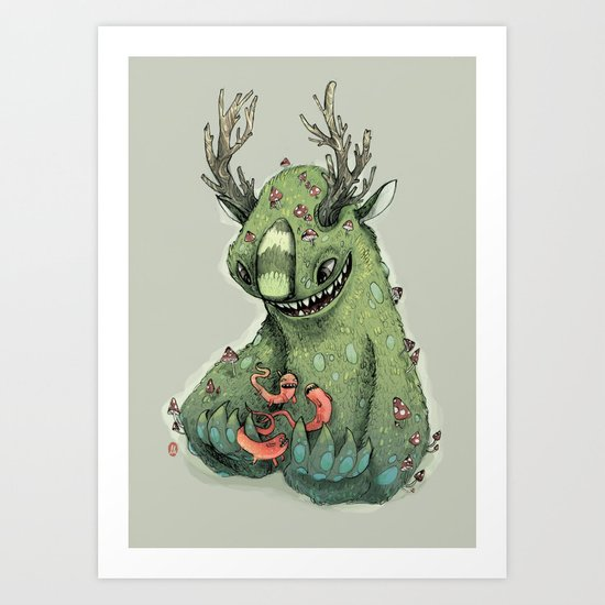 mushroom creature Art Print