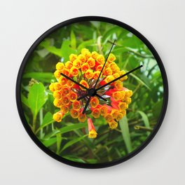 Wake up and plant flowers by #Bizzartino Wall Clock