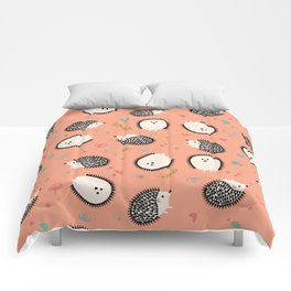 Hedgegogs in the Forest Comforters