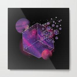 Cube Space Metal Print