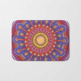 Jewel Drop Mandala Bath Mat