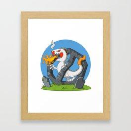 Cigarette - Monster spewing flames Framed Art Print