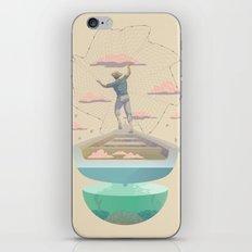Clouds fisherman iPhone & iPod Skin