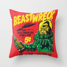 BEASTWRECK ATTACKS! Throw Pillow