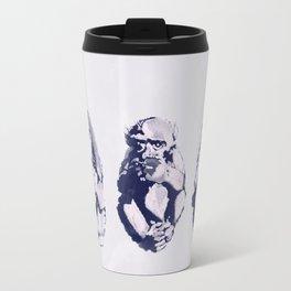 The Monkeys That Don't Speak or See Travel Mug