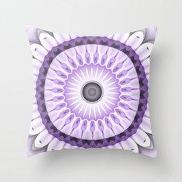 Purple Daisy Kaleidoscope Throw Pillow