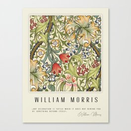 Modern poster-William Morris-Vegetable print 4. Canvas Print