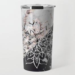 Yin Yang Mandala on Marble #1 #decor #art #society6 Travel Mug