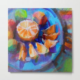 Still LIfe with Oranges and Limes Metal Print