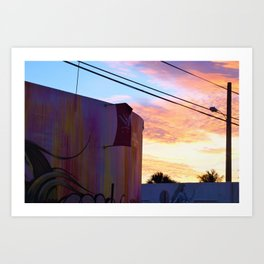 Wynwood Walls Sunset Art Print