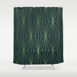ELEGANT GREEN GABLES PATTERN Shower Curtain