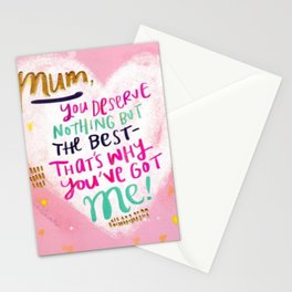 Funny quote for mum Stationery Cards