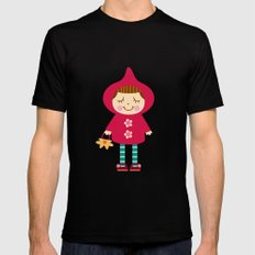 Little red riding hood Mens Fitted Tee MEDIUM Black
