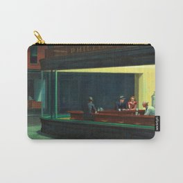 NIGHTHAWKS downtown diner late at night iconic cityscape oil on canvas painting by Edward Hopper Carry-All Pouch