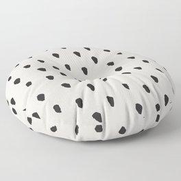 Messy Brush Spots Warm Grey Floor Pillow