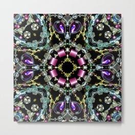 Bling Jewel Kaleidoscope Scanography Metal Print