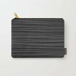 Black Smooth Texture (Black and White) Carry-All Pouch