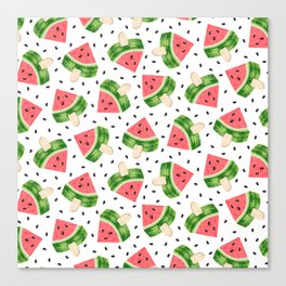 Watermelon Ice cream Canvas Print