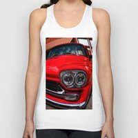 truck Tank Tops featuring Vintage Truck by Mark Alder