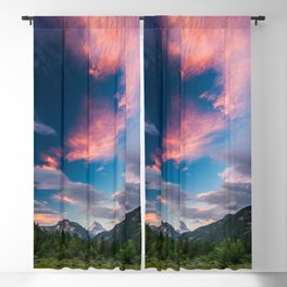 Amazing sunset clouds over mountain Mangart Blackout Curtain