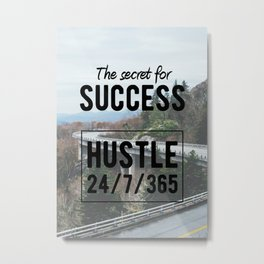 Motivation - The Secret for success Metal Print