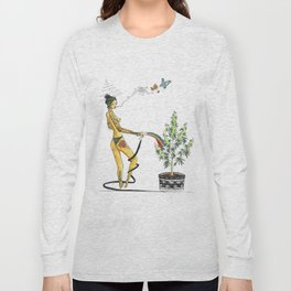 Rainbow Weed Babe - Higher Life Long Sleeve T-shirt