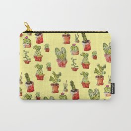 Cacti on yellow Carry-All Pouch