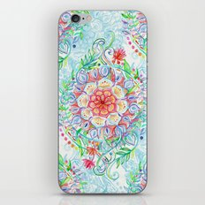 Messy Boho Floral in Rainbow Hues iPhone Skin