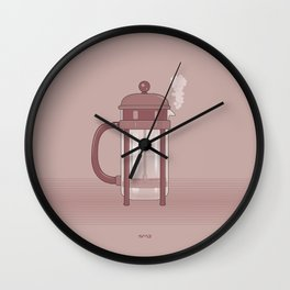 Coffee Maker Series - French Press Wall Clock