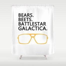 Bears,Beets,Battlestar Galactica Shower Curtain