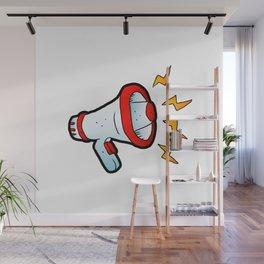 megaphone cartoon Wall Mural