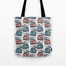 Cassette Tape Pattern Tote Bag