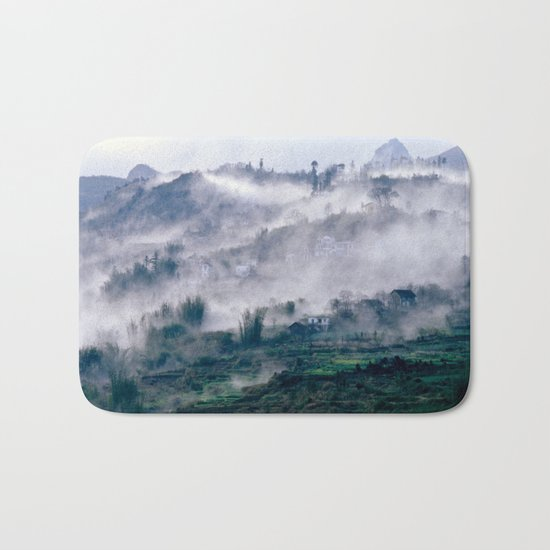 Foggy Mountain of Vietnam Bath Mat