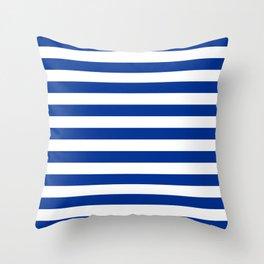 El Salvador honduras finland greece israel flag stripes Throw Pillow