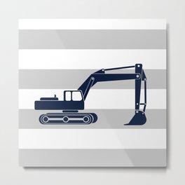 excavator navy Metal Print