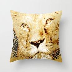 Tiger Palm Throw Pillow