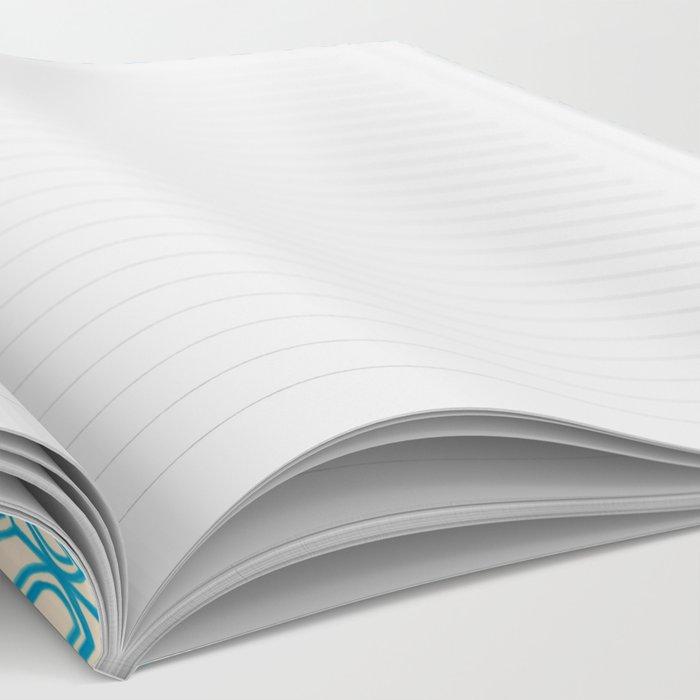 Tulip Knit in blue & cream Notebook