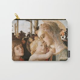 """Sandro Botticelli """"Madonna and Child with St. John the Baptist"""" Carry-All Pouch"""