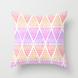 Stacked Triangles - Warm Throw Pillow