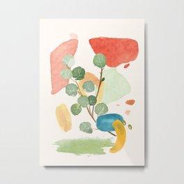 Modern Abstract Watercolour Art IV Metal Print