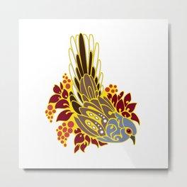 Diamond dove bird tribal tattoo Metal Print