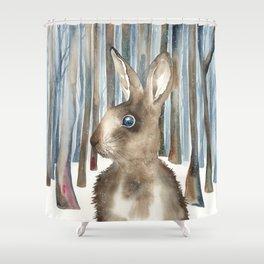 Woodland Rabbit Shower Curtain