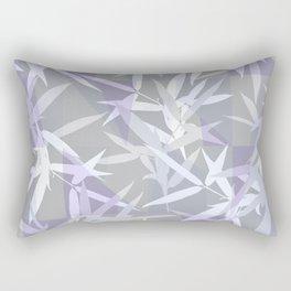 Elegant Grey Origami Geometric Effect Design Rectangular Pillow