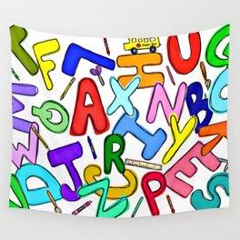 School Pattern Wall Tapestry