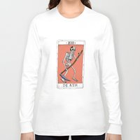 tarot Long Sleeve T-shirts featuring Tarot Card by BlandinePannequin