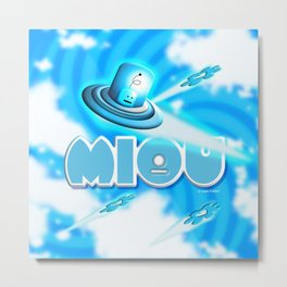 Miou in Blue! Metal Print