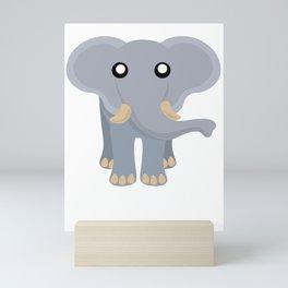 Cute Elephant Cartoon Mini Art Print