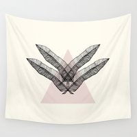 feather Wall Tapestries featuring Feather by Andrea Eedes