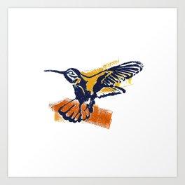 Hummingbird - Colour Art Print
