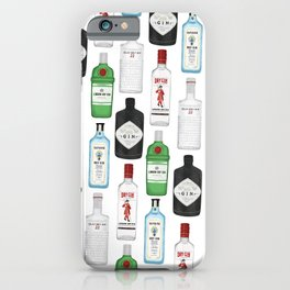 Gin Bottles Illustration iPhone Case